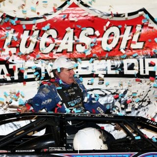 Scott Bloomquist victory lane 9868