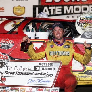 Tim McCreadie Victory Lane Silver Dollar Nationals at I-80 Speedway 1423
