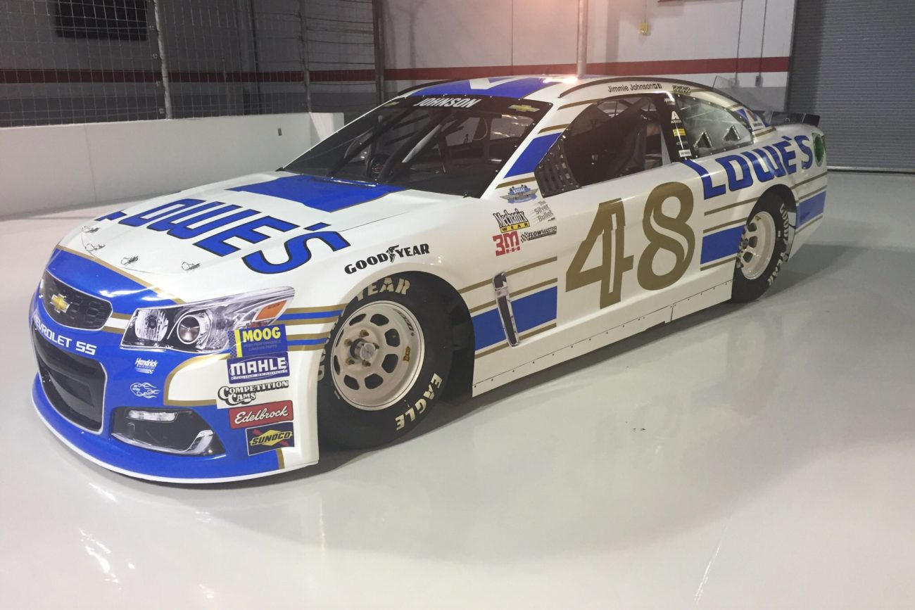 2017 Jimmie Johnson Darling Throwback Paint Scheme