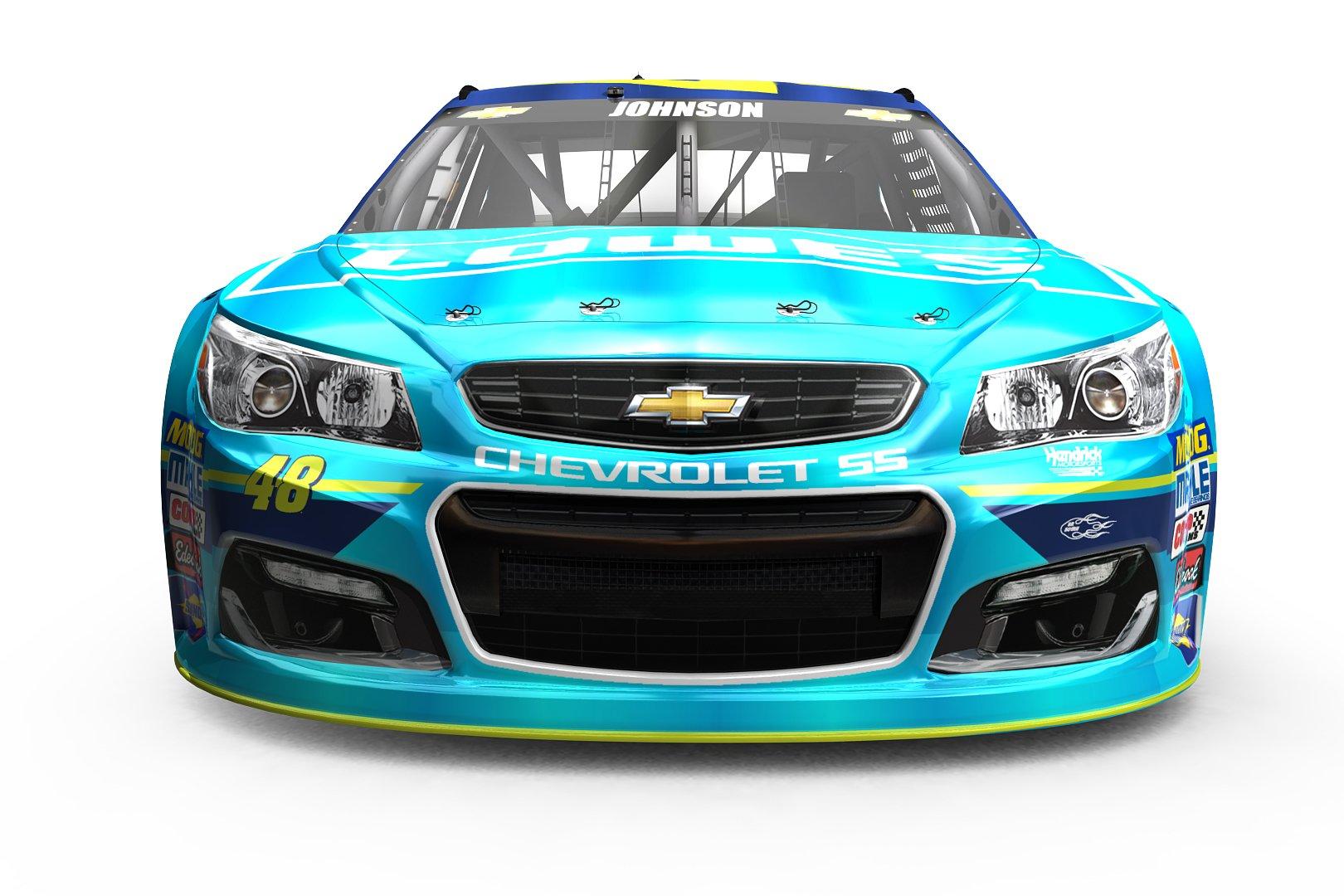 2017 Jimmie Johnson Michigan International Raceway NASCAR paint scheme