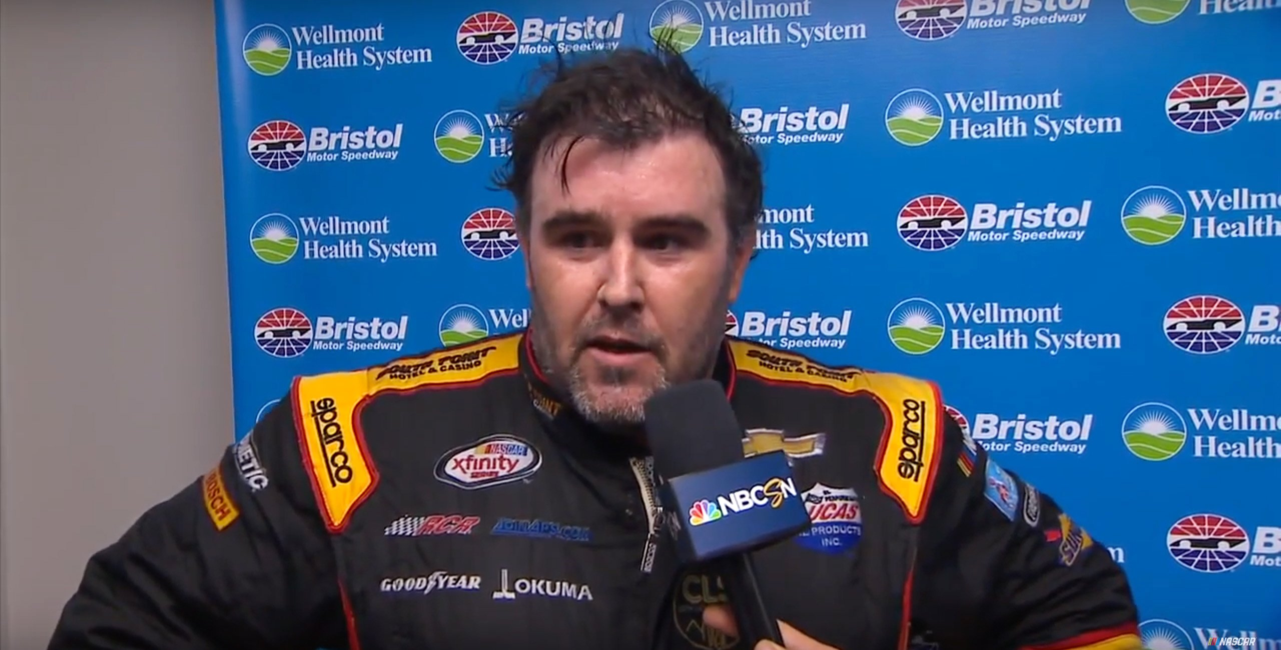 Brendan Gaughan Bristol post-race interview