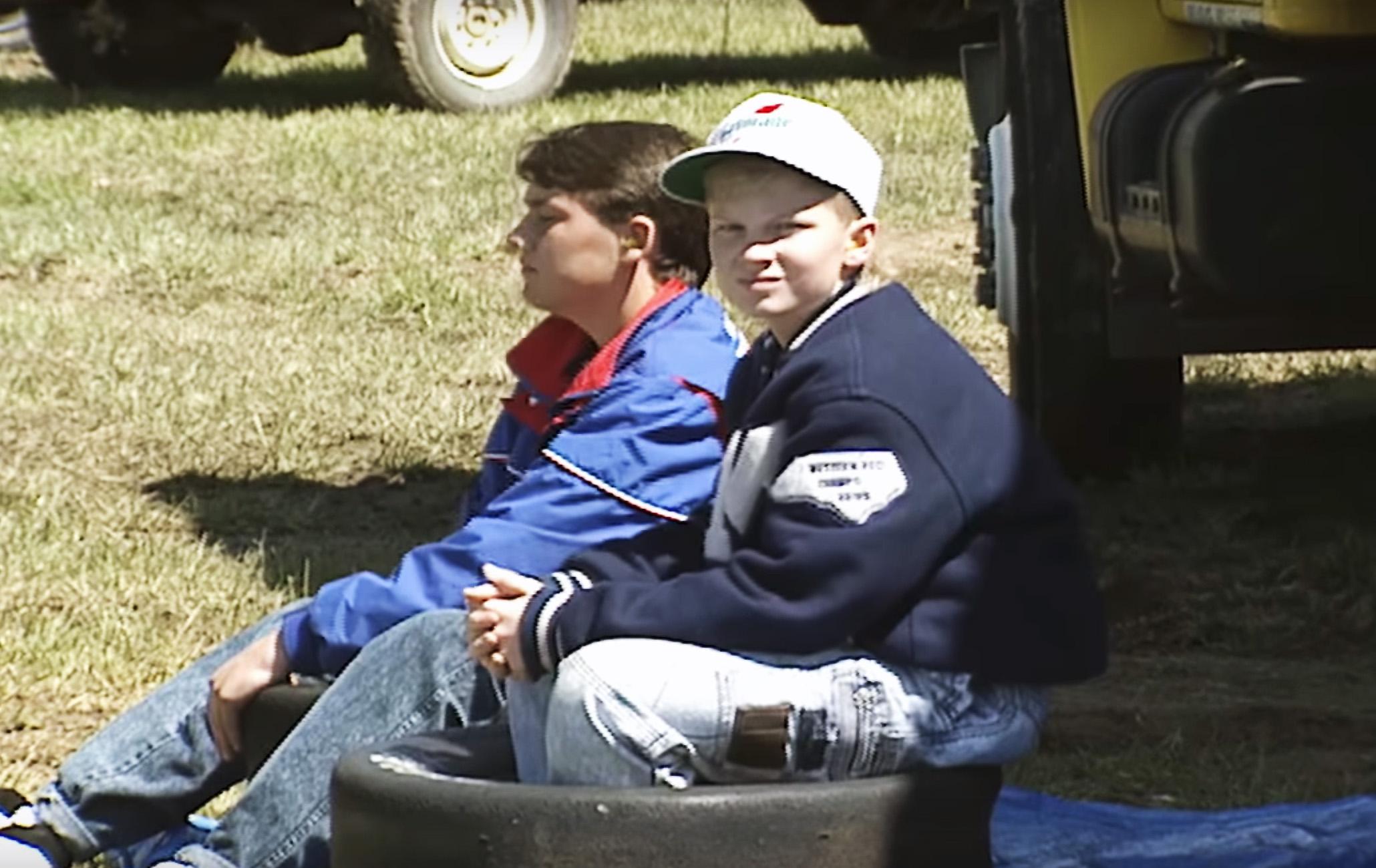Dale Jr at Bristol Motor Speedway as a kid