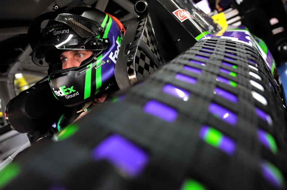Denny Hamlin talks race off pit road