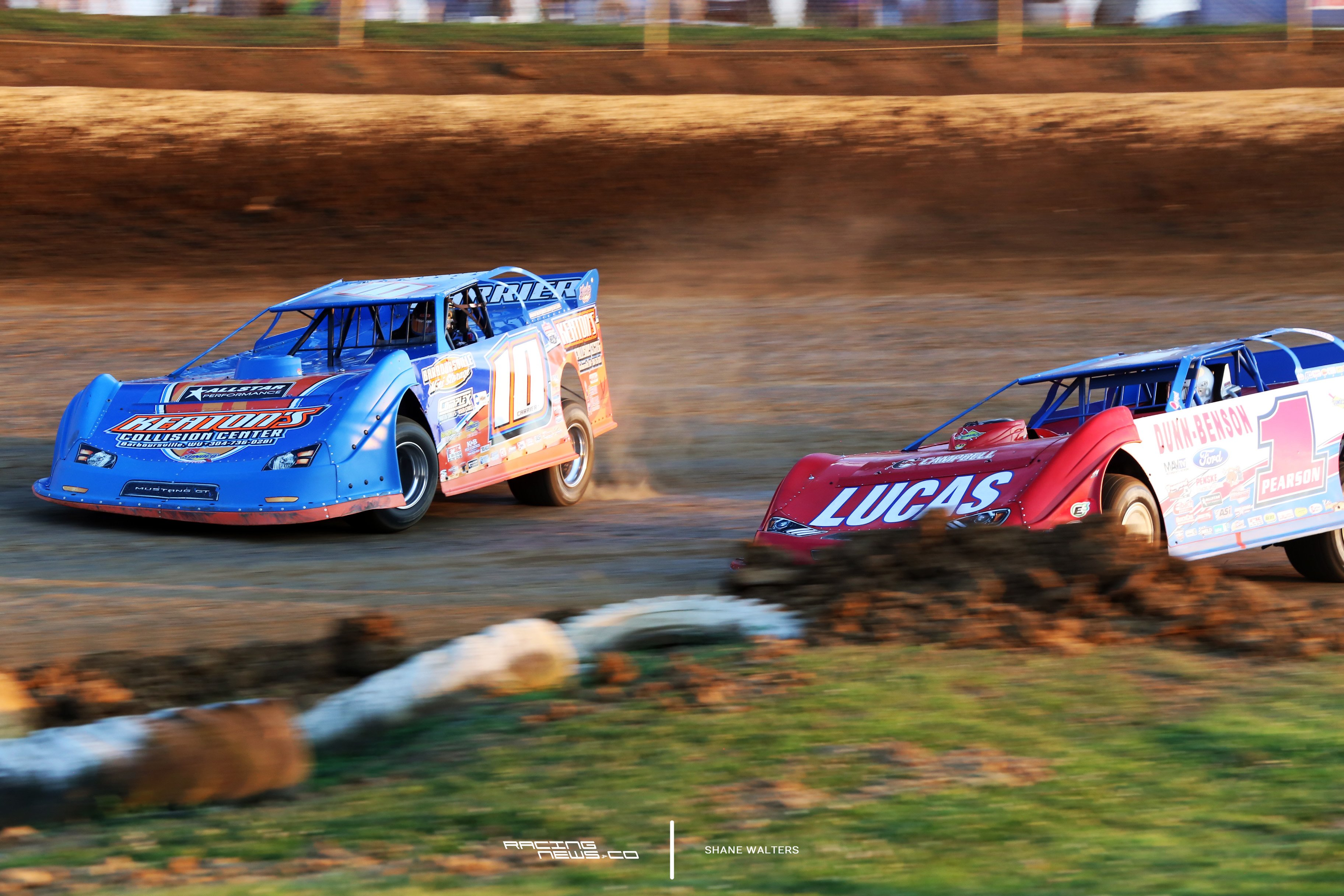 Eddie Carrier Jr and Earl Pearson Jr at Florence Speedway 4395