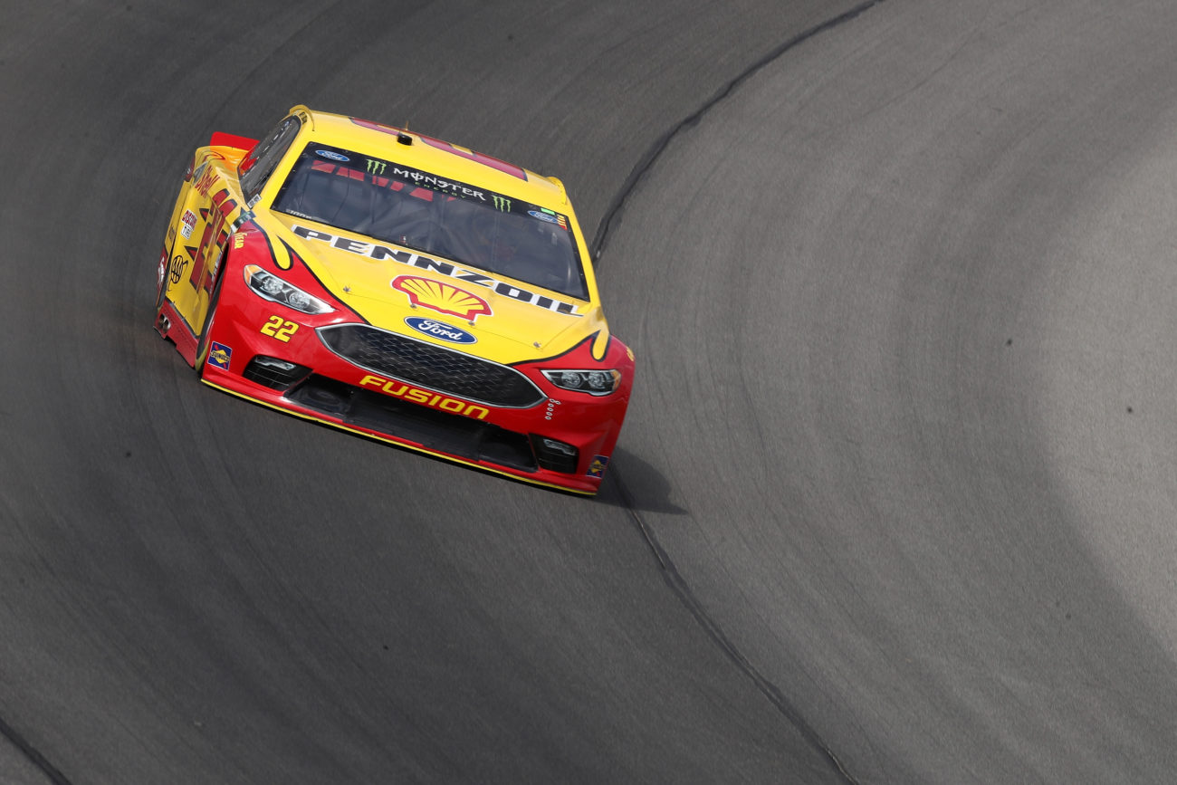 Joey Logano at Michigan International Speedway