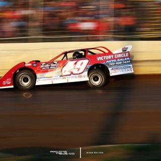 Jonathan Davenport in the 2017 North South 100 at Florence Speedway