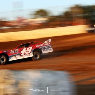 Jonathan Davenport at Florance Speedway for the Lucas Oil Late Model Dirt Series event