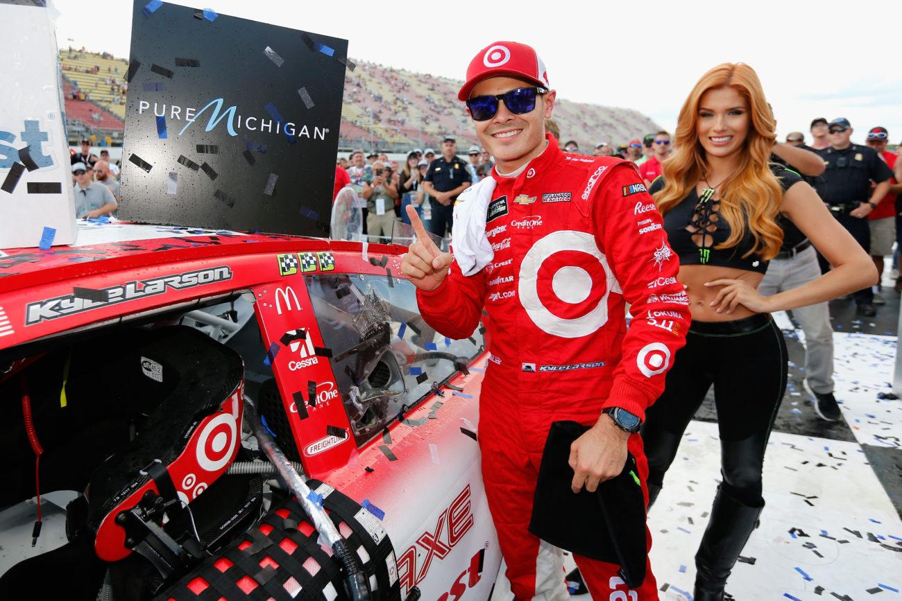 Kyle Larson talks Michigan International Speedway track prep