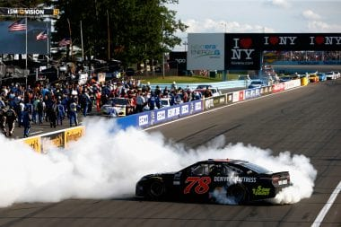 Martin Truex Jr burnout at Watkins Glen