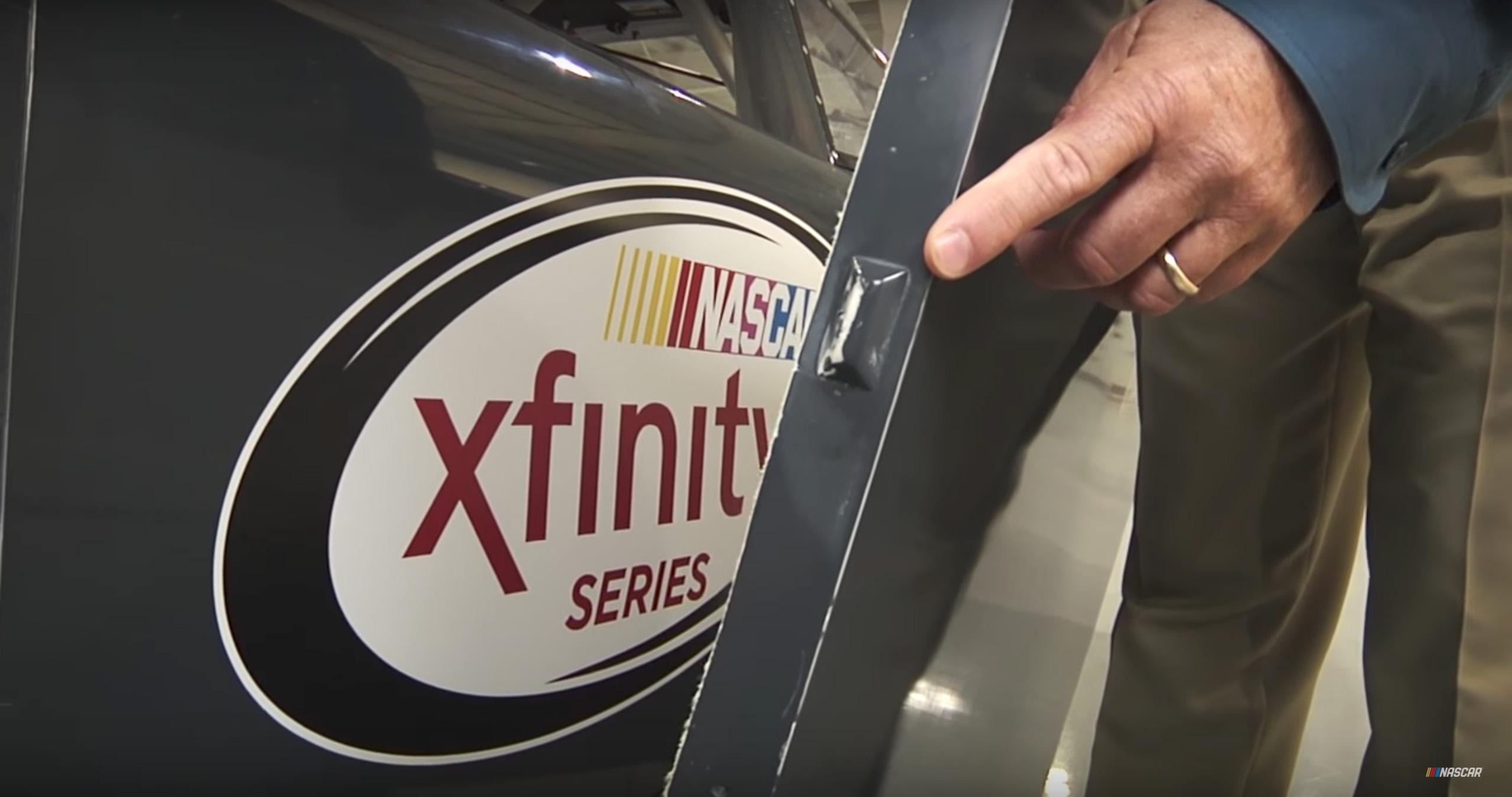 NASCAR flange-fit body hinge