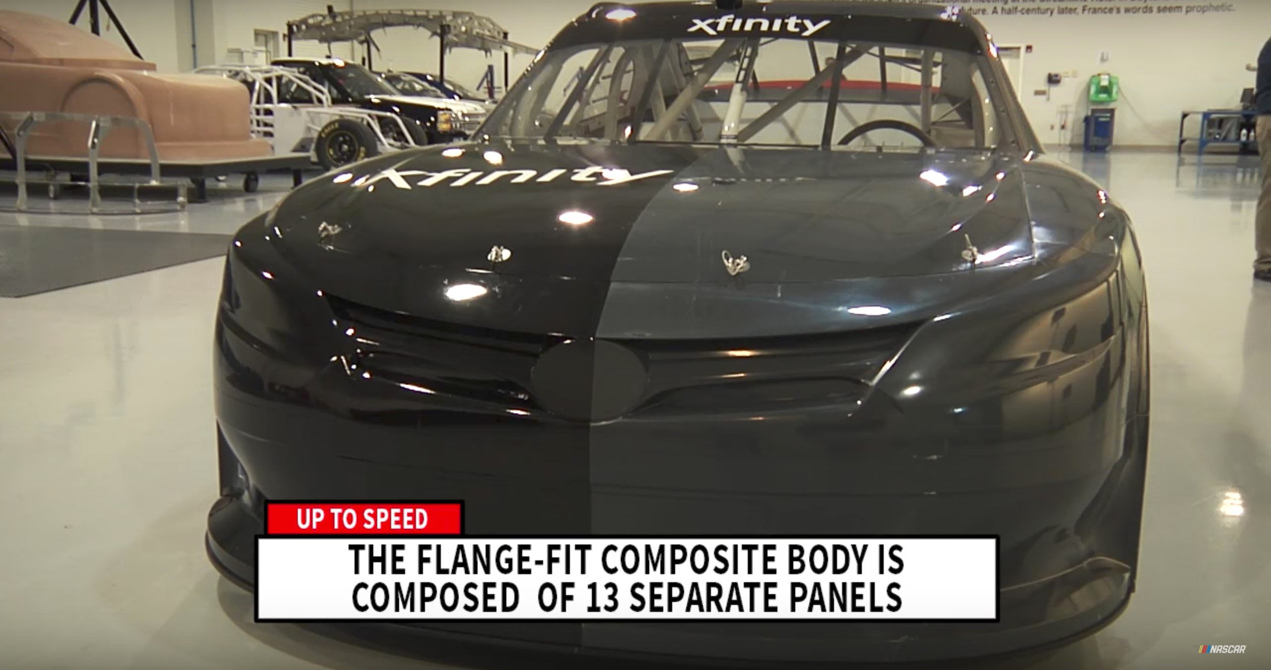NASCAR flange-fit body vs steel body