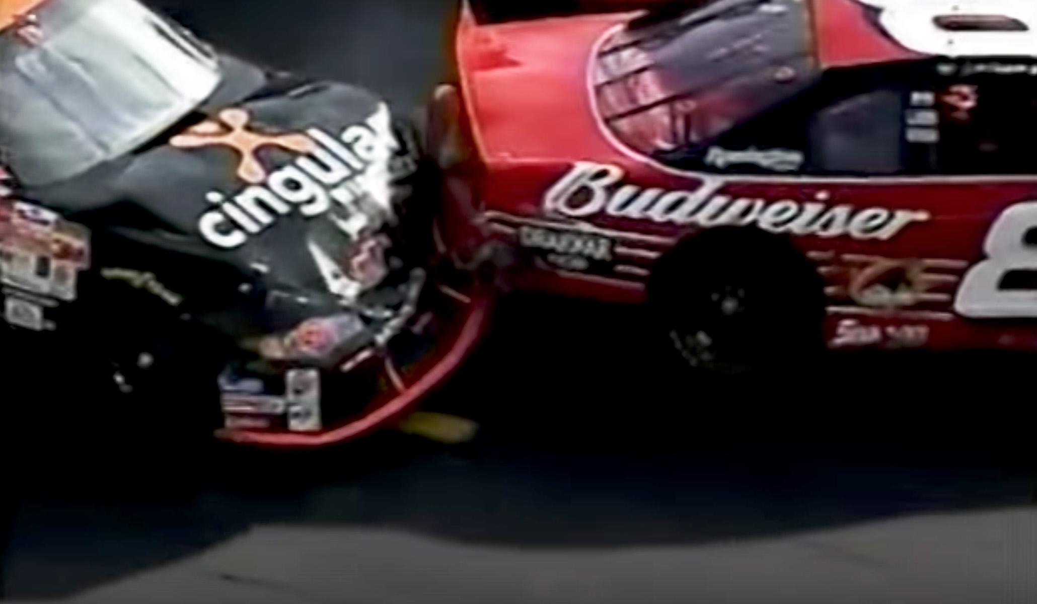 Robby Gordon vs Dale Jr 2002 bristol