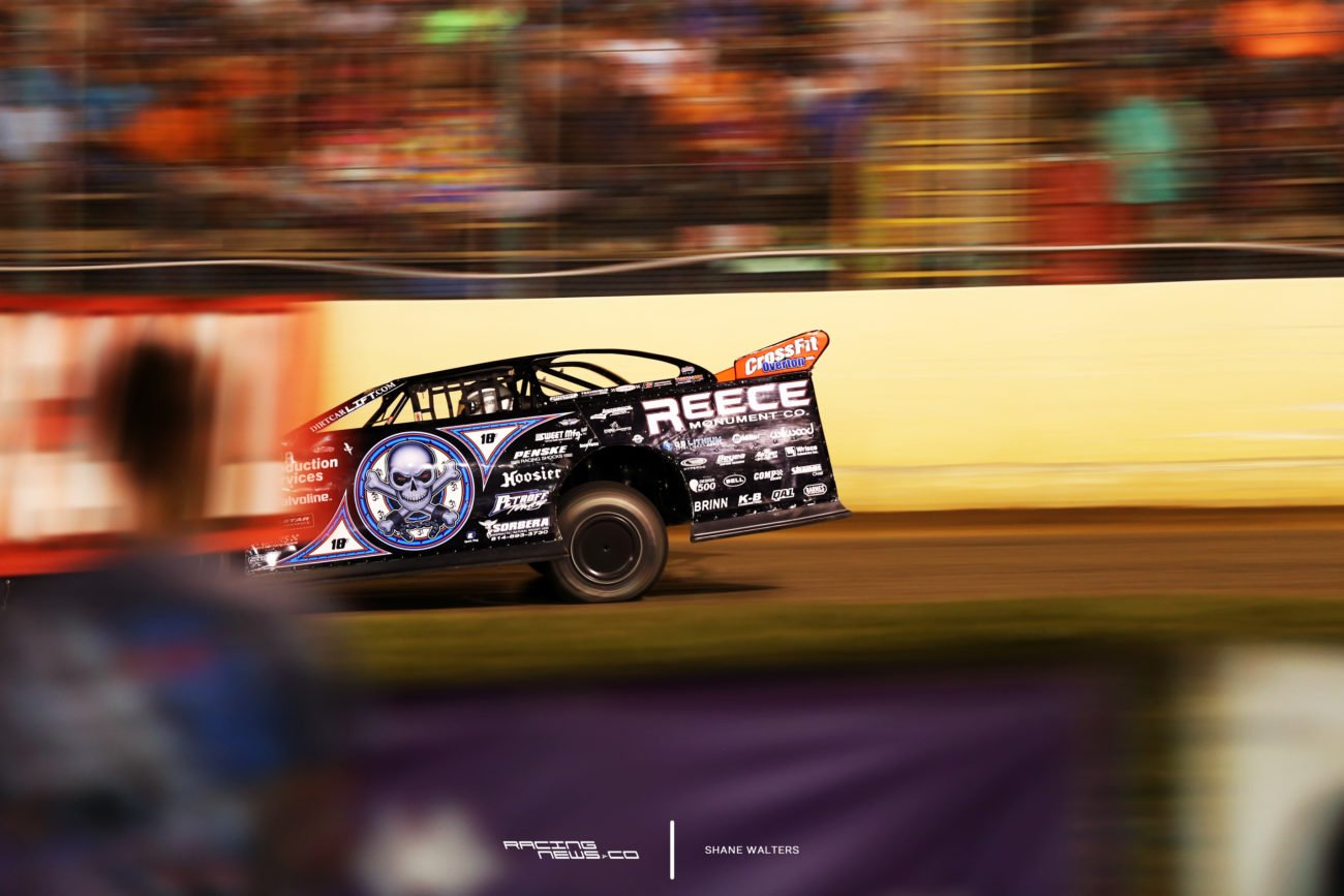 Scott Bloomquist at Florence Speedway in the Lucas Oil Dirt Series event