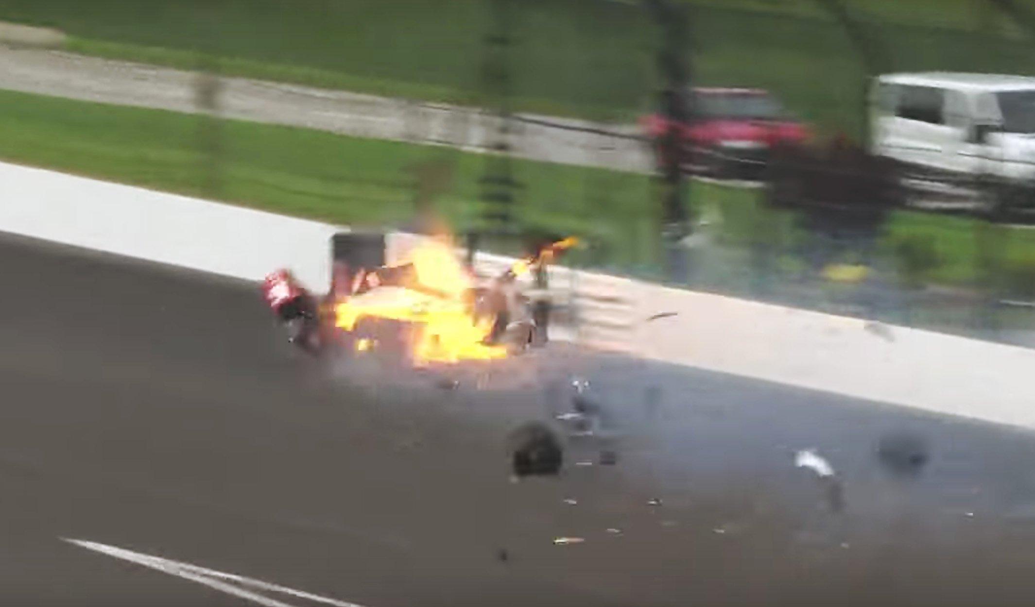 Sebastien Bourdais 2017 Indy 500 crash - Cleared