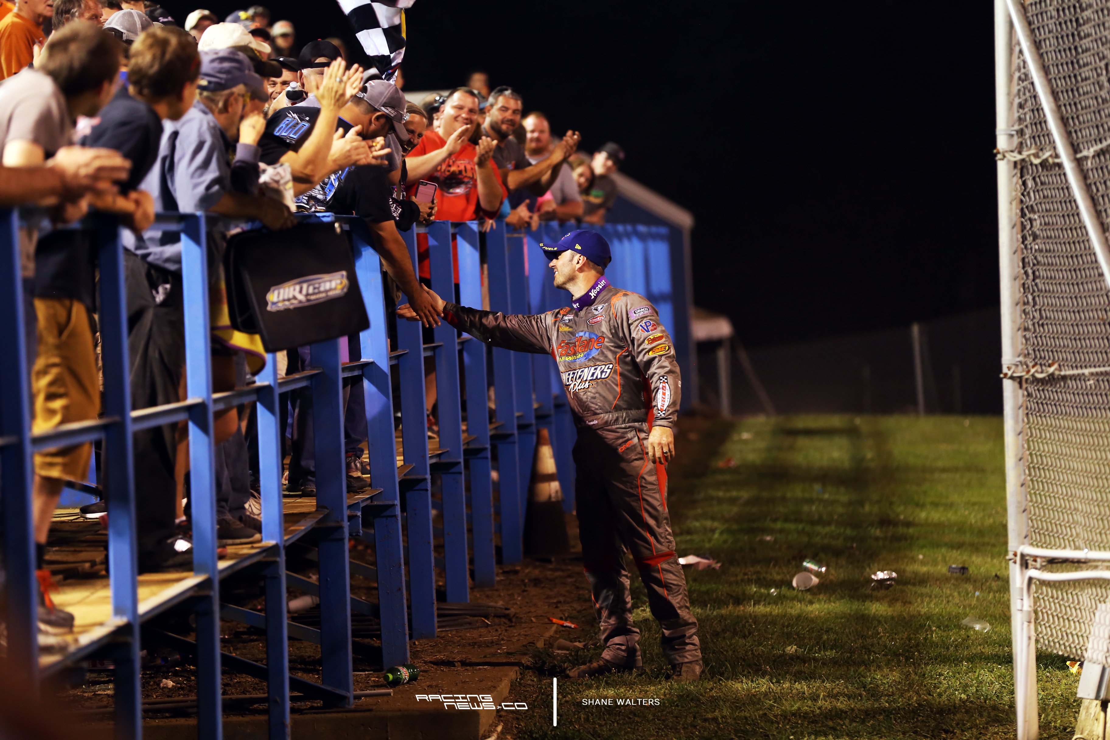Tim McCreadie greets fans after the win 5011
