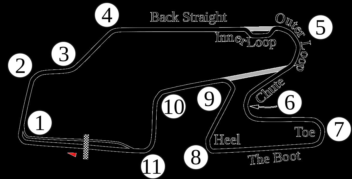 Watkins Glen Boot Track Map