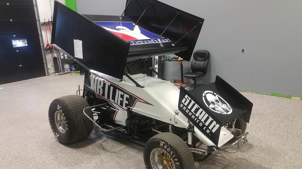 iRacer Alex Bergeron will get a short in a real dirt sprint car