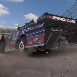 iRacing dirt late model screenshots