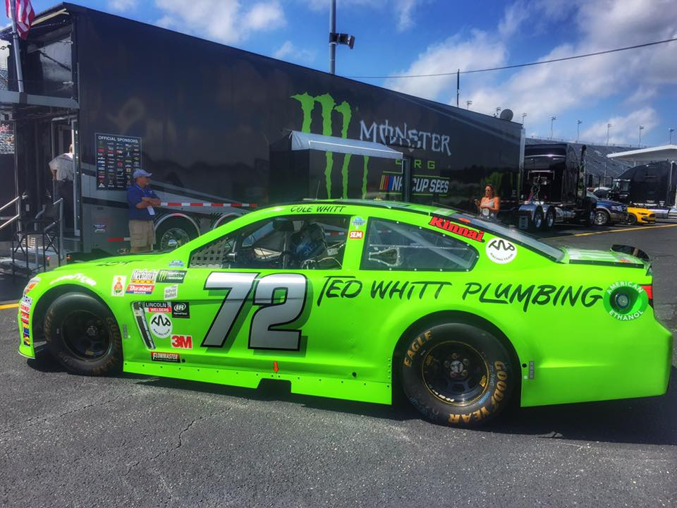 2017 Cole Whitt throwback paint scheme to his father