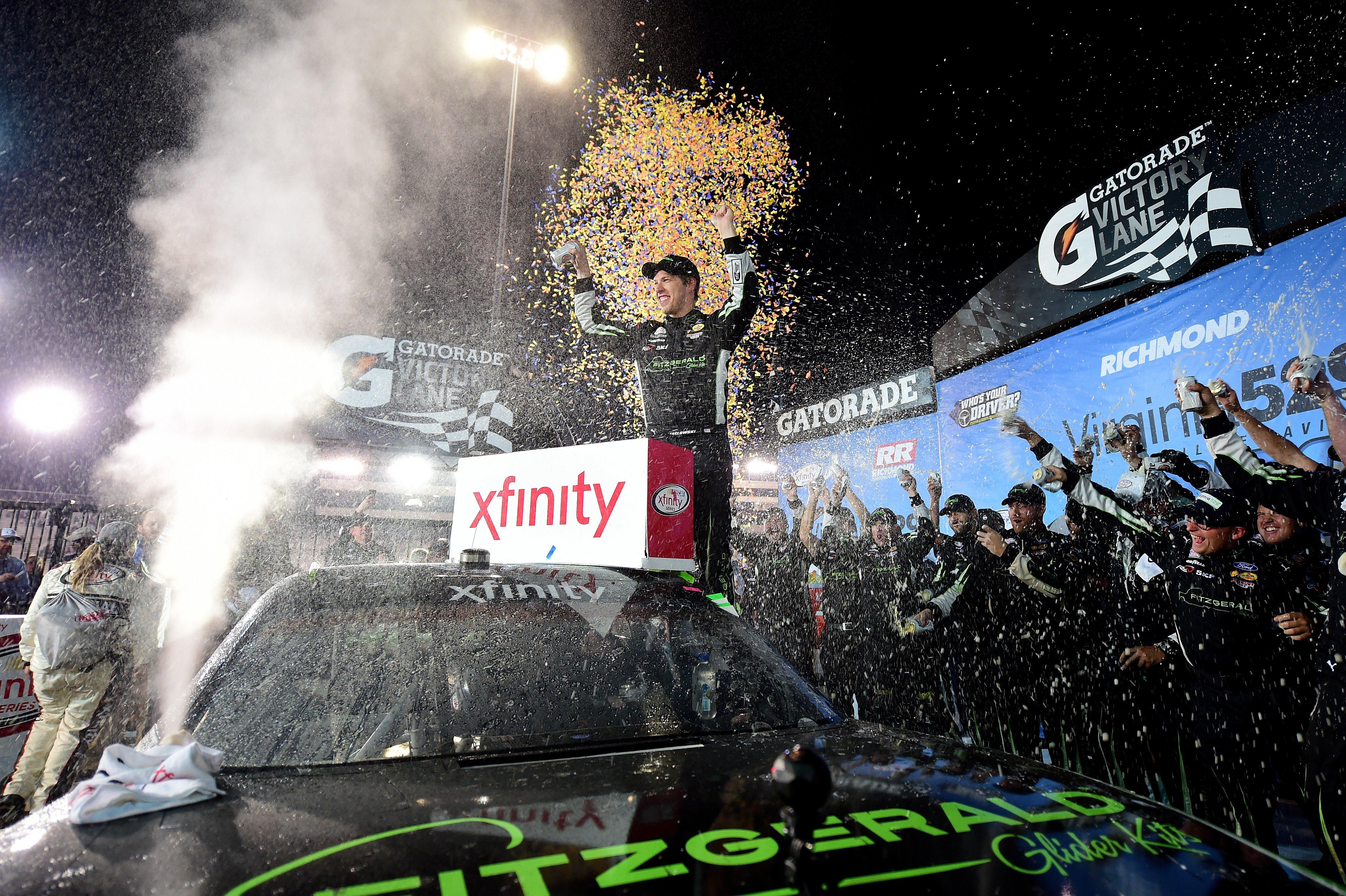 Brad Keselowski wins NASCAR Xfinity race at Richmond Raceway