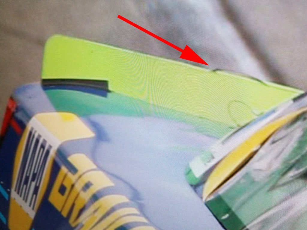 Chase Elliott rear spoiler tape photo