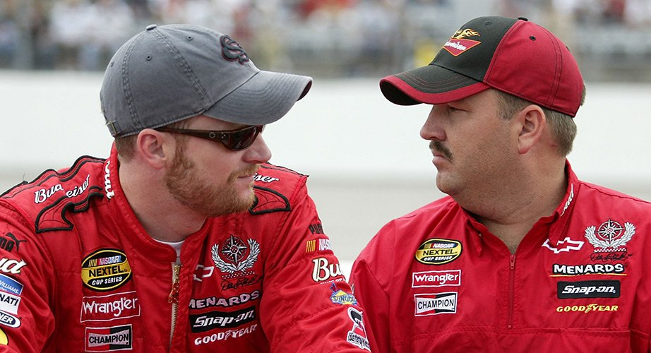 Dale Earnhardt Jr and crew chief Tony Eury Jr