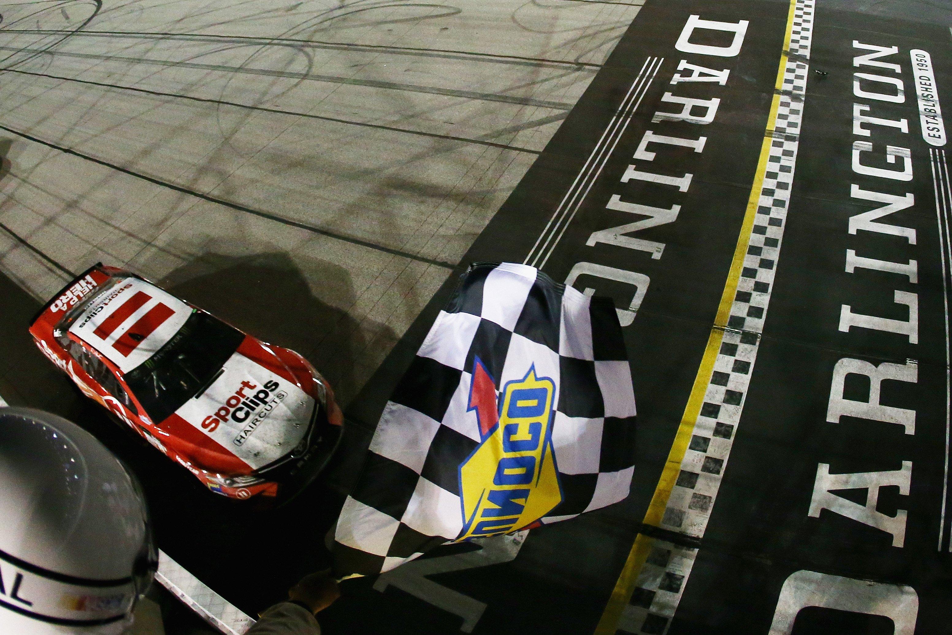 Encumbered NASCAR finish