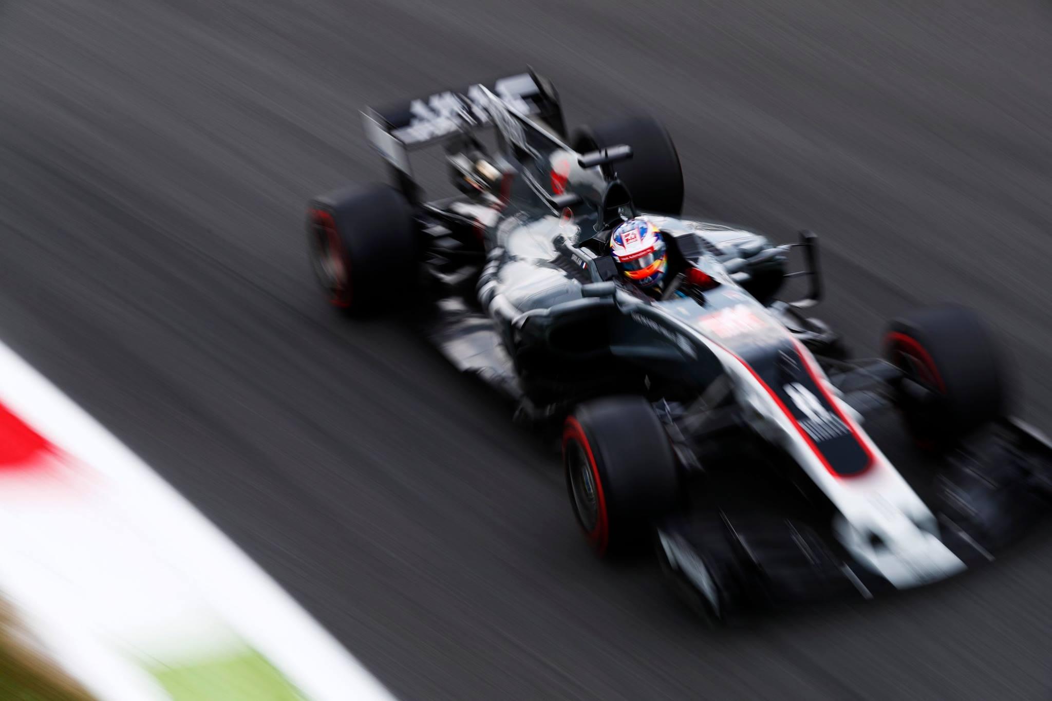Haas F1 car owned by Gene Haas