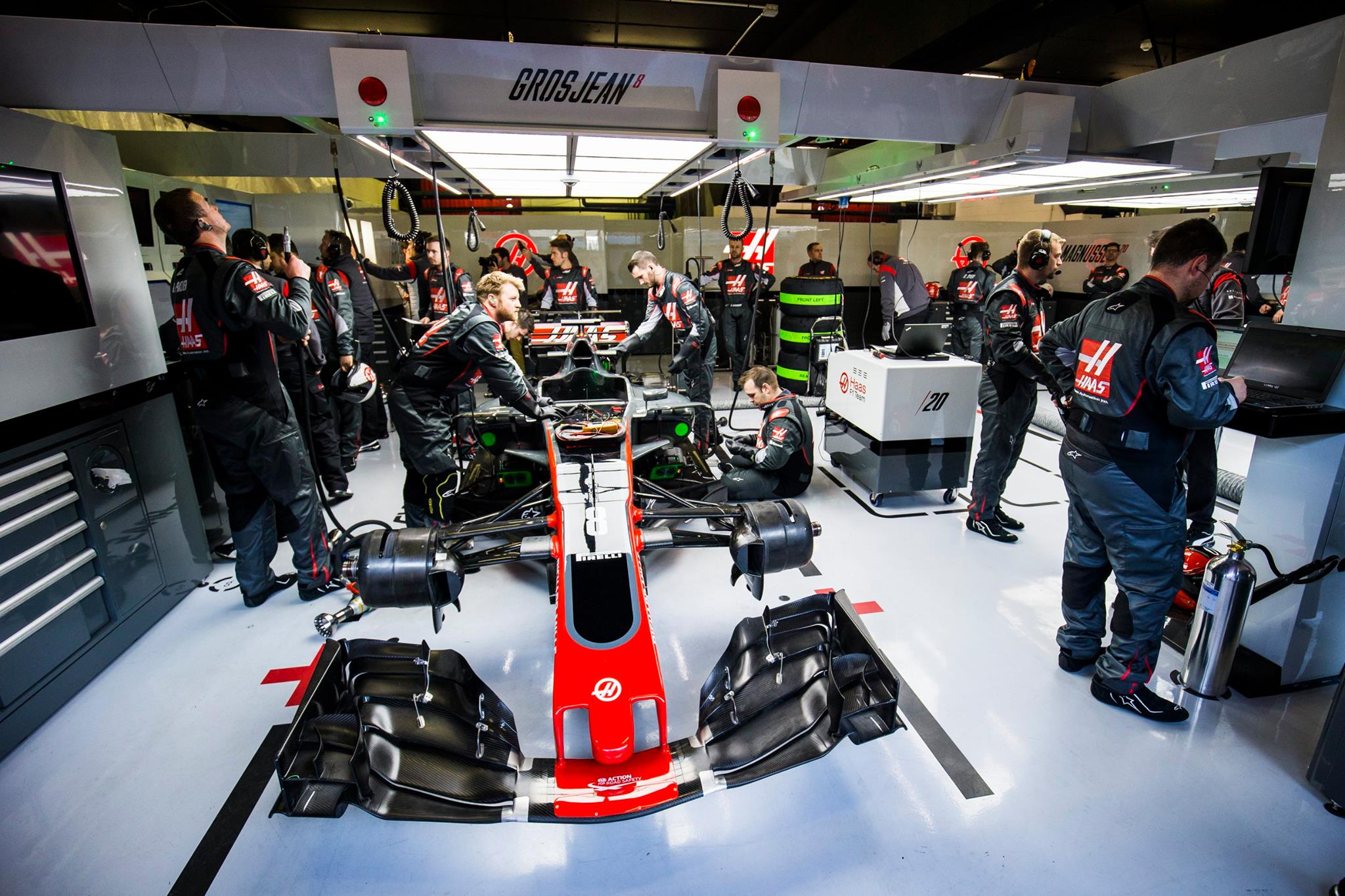 Haas Formula One Garage