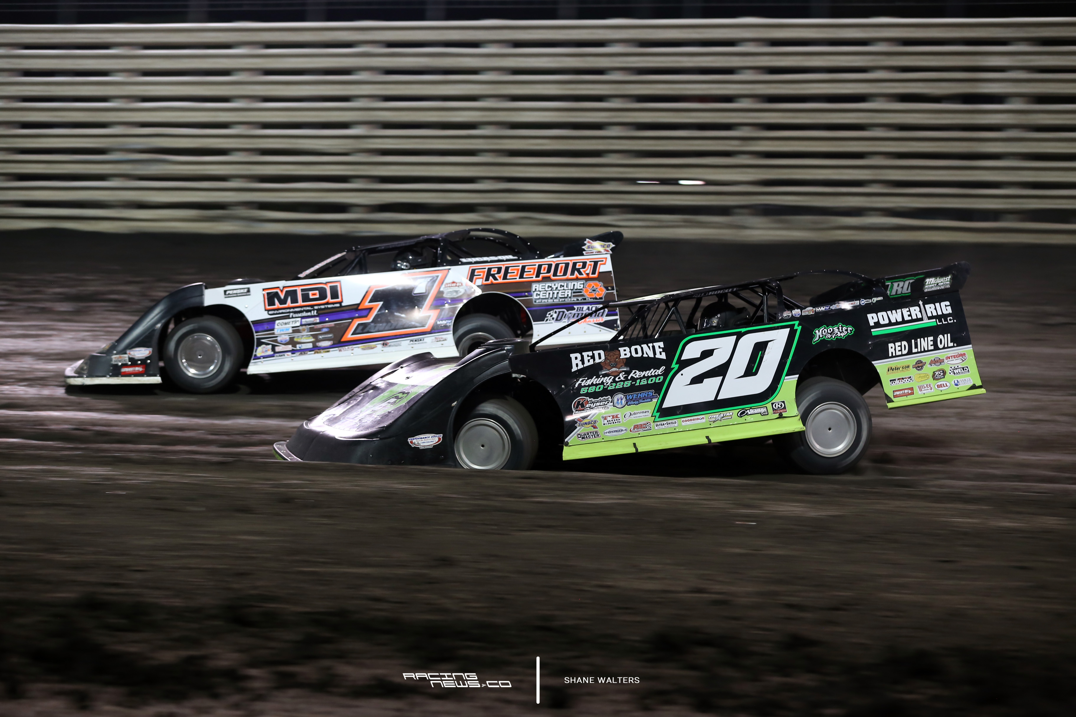 Jimmy Owens and Jared Landers at Knoxville Raceway 5715