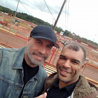 John Travolta dirt track racing