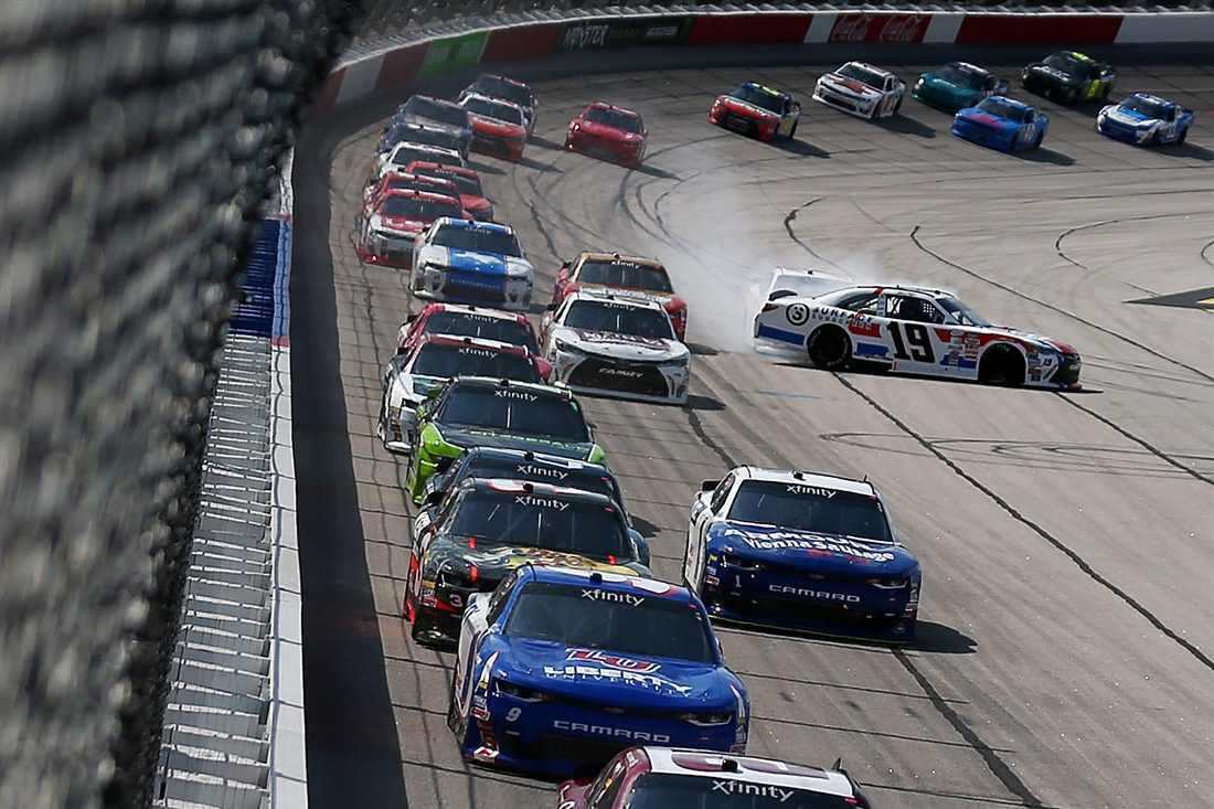 NASCAR Xfinity Series race at Darlington - Matt Tifft spins