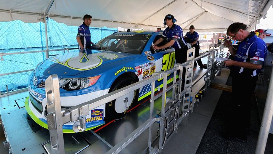 NASCAR inspection process