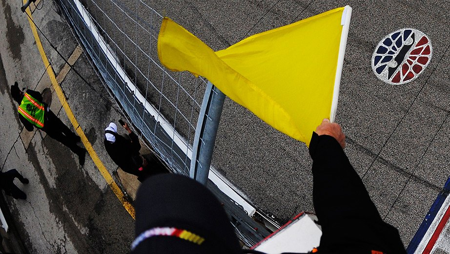 Automated NASCAR yellow flags