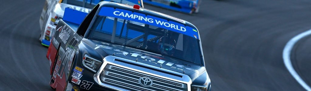 ThorSport Racing won with a truck from the shop fire