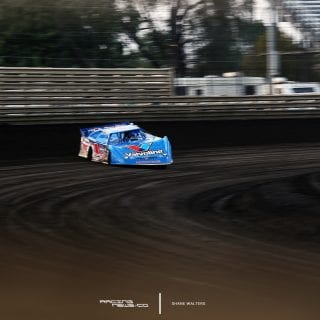 Brandon Sheppard at Knoxville Raceway in the Rocket1 Racing race car