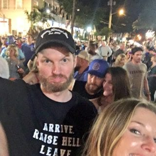 Dale Earnhardt Jr and Amy Earnhardt on New Year's Eve