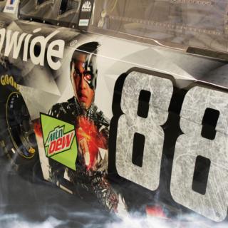 Dale Earnhardt Jr Justice League NASCAR Paint scheme