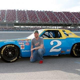 Dale Earnhardt Jr drives his dad's car around Talladega - Dale Earnhardt Sr #2 car