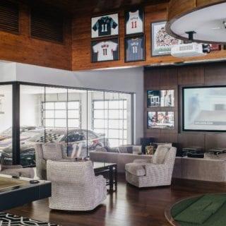 Denny Hamlin Home garage