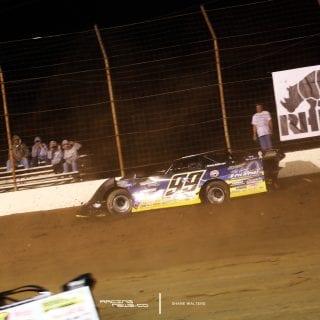 Frank Heckenast Jr dirt late model crash 0730