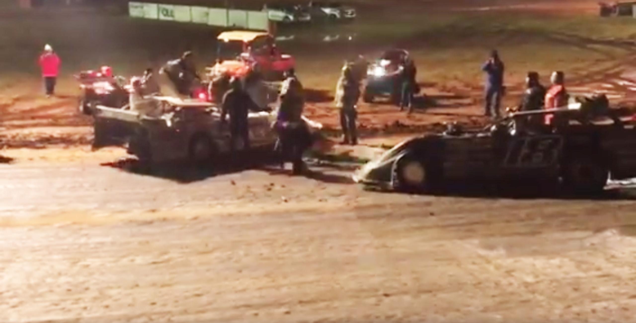 Jack Sullivan vs Cade Dillard - Driver flipped, under caution
