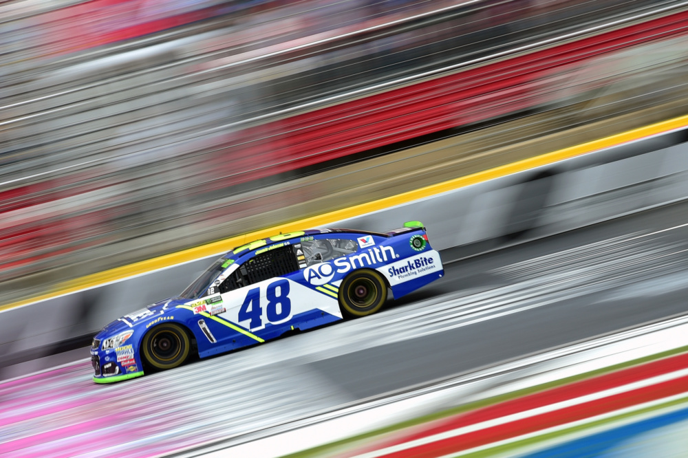 Jimmie Johnson pit stop rule - Charlotte Motor Speedway