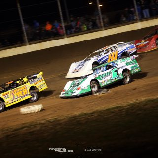 Jonathan Davenport leads the pack in dirt late model's throwback weekend 1138