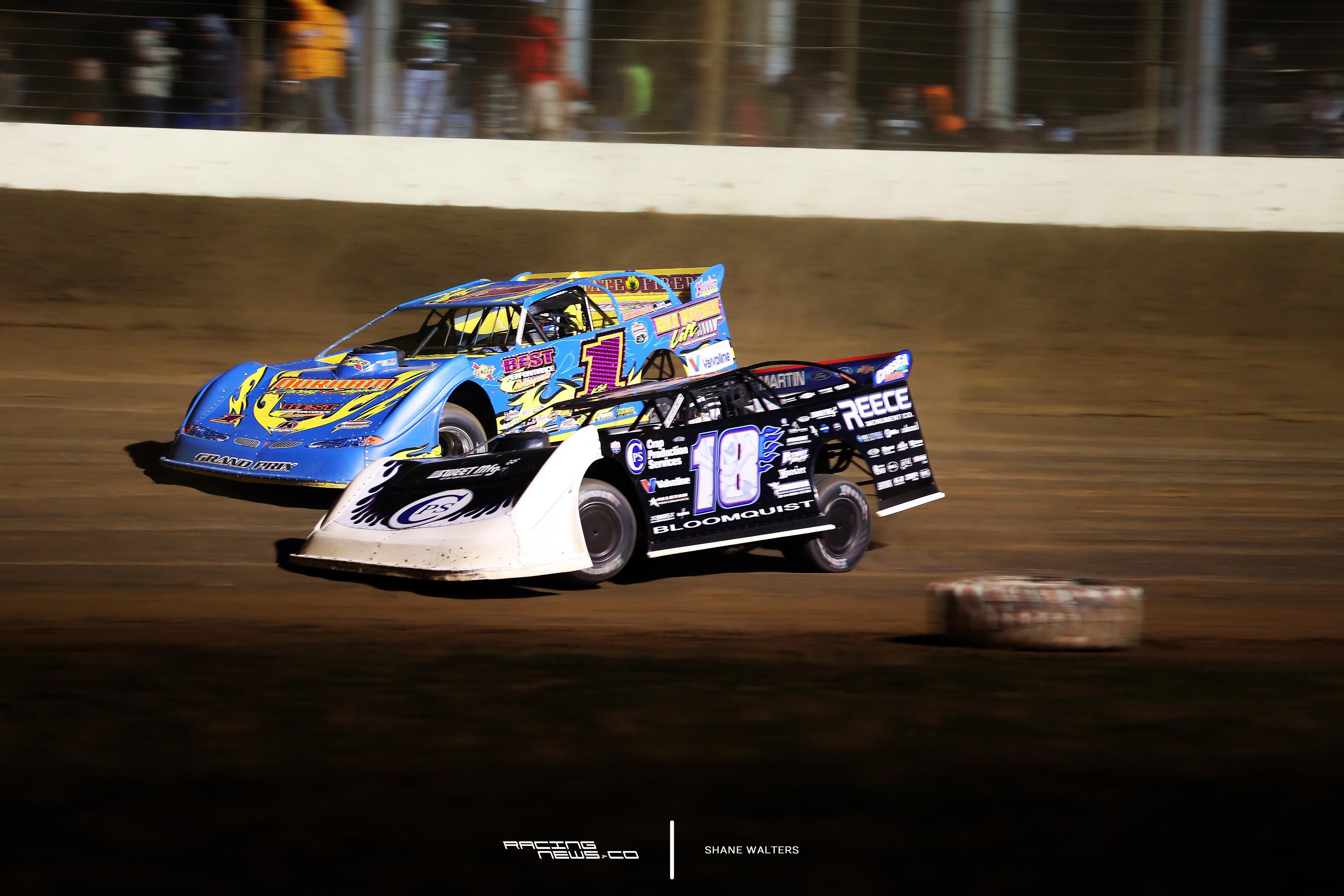 Josh Richards and Scott Bloomquist at Portsmouth Raceway Park
