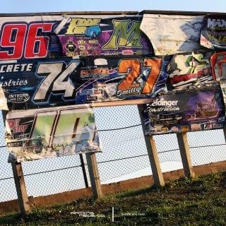 Kankakee County Speedway racecar door wall