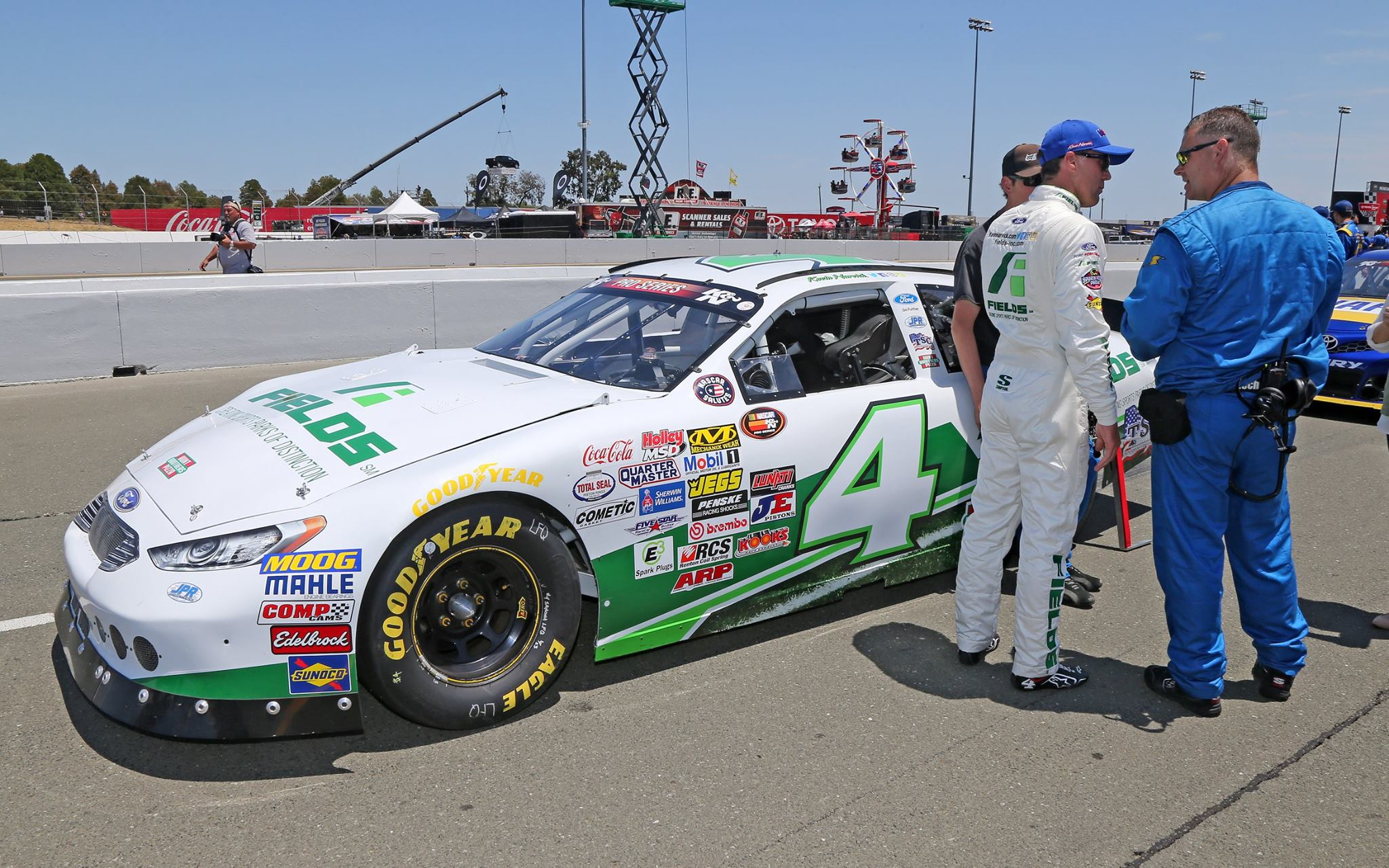Kevin Harvick in the NASCAR K&N Pro Series event at Sonoma Raceway