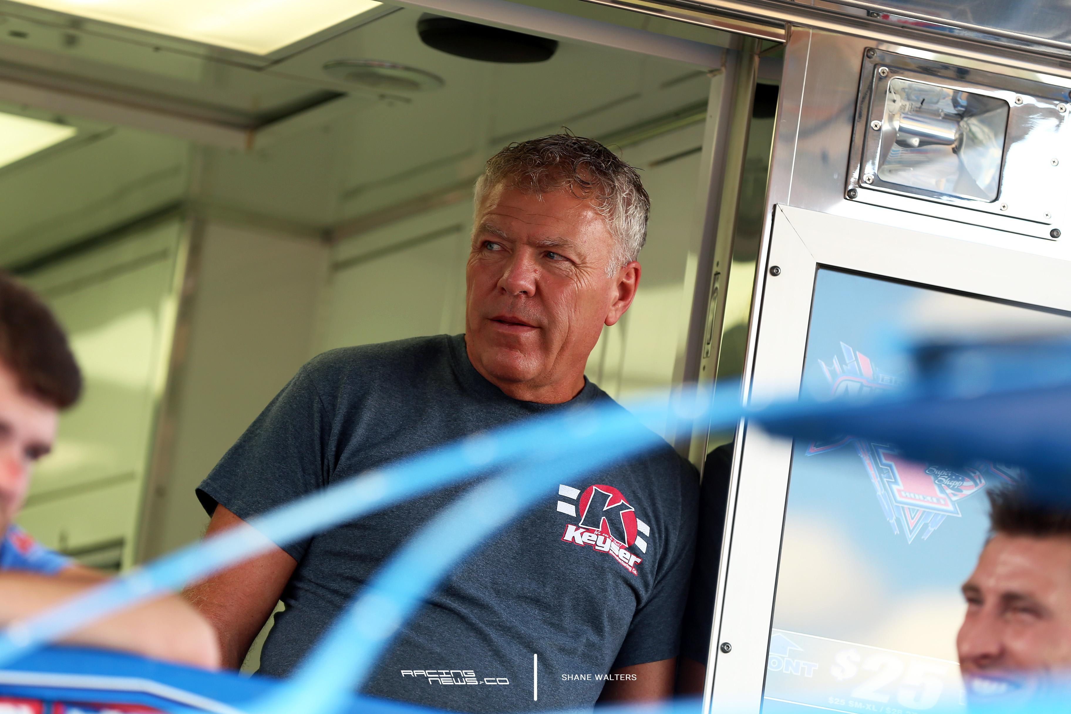 Mark Richards at the Rocket1 Racing hauler 9187