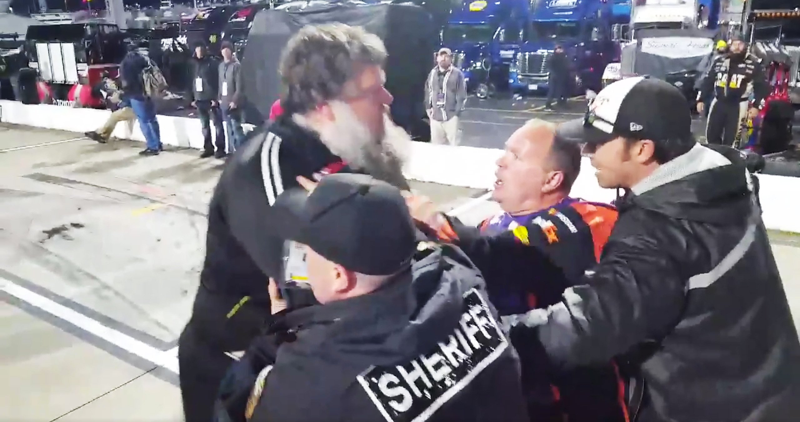 NASCAR fan tries to fight Denny Hamlin