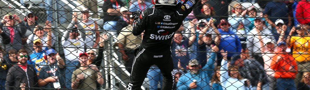 Outside pass for the win at Martinsville Speedway